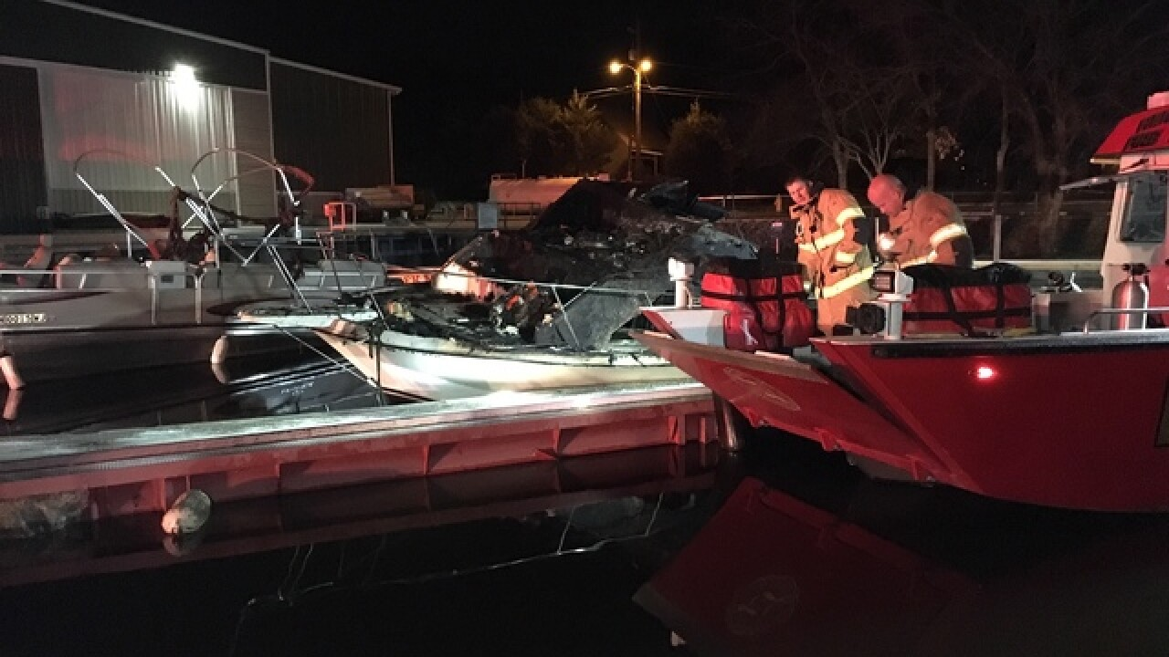 3 boats destroyed or damaged in marina fire