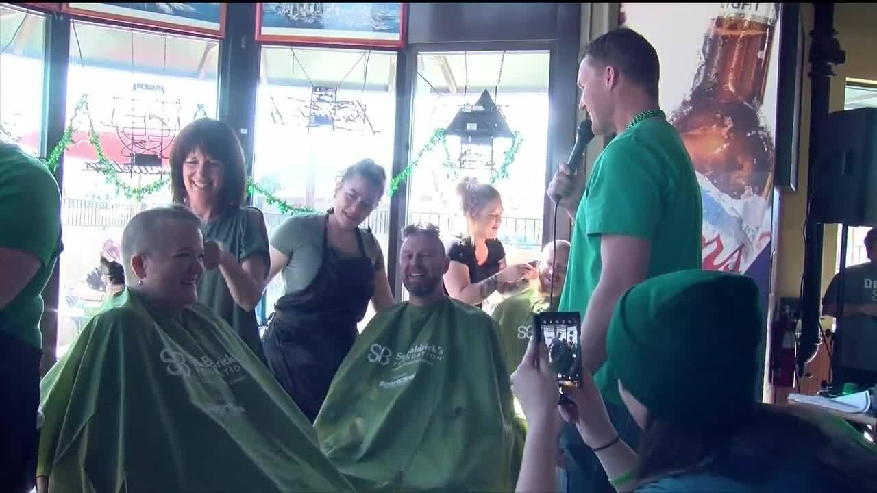 St. Baldricks head shaving fundraiser