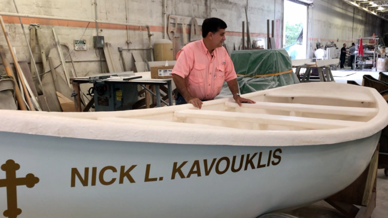 Tarpon Springs Epiphany boat maker