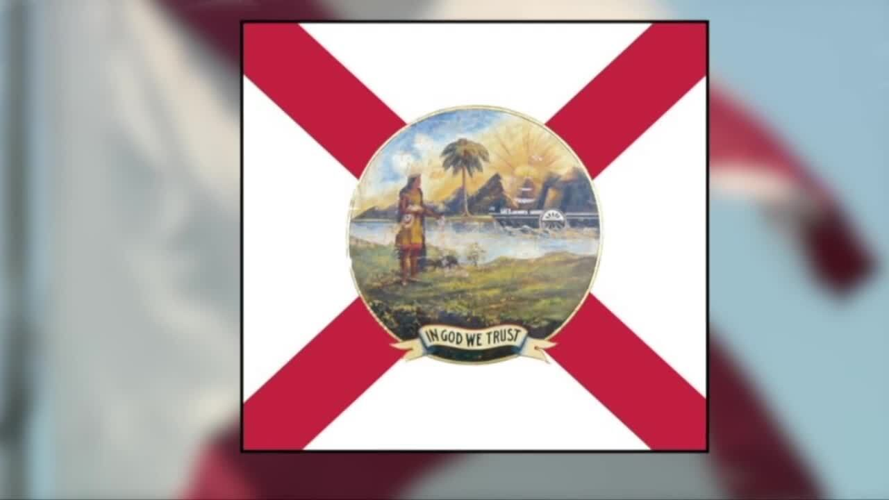 Image of Florida state flag 'In God We Trust'