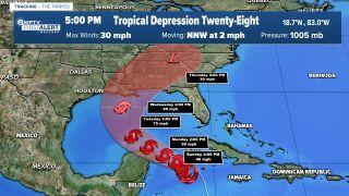 Tropical Depression 28 Oct. 24, 2020 5 p.m.