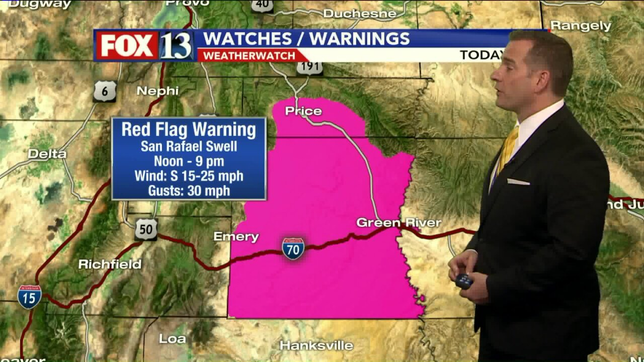 Red Flag Warning: Gusty winds, low humidity mean high fire danger for Utah