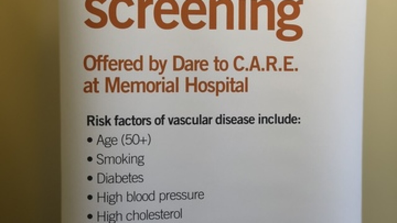 Memorial hospital giving away free vascular screening