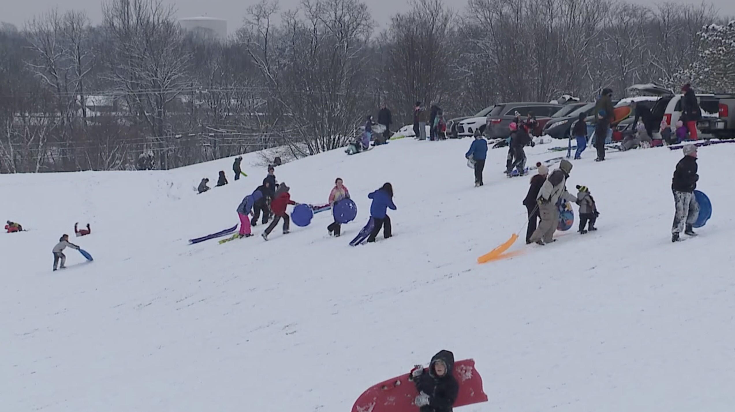 sledding snow