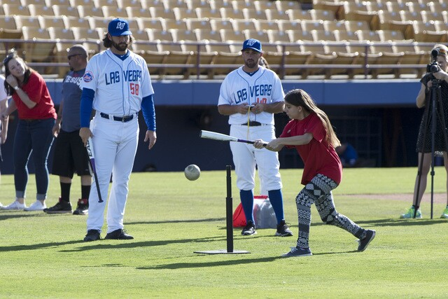 PHOTOS: Las Vegas 51s invite Blind Children's Foundation to experience media day