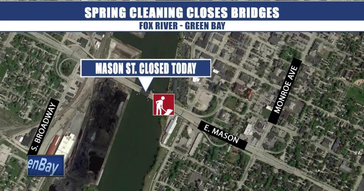 Spring cleaning will close three Fox River bridges