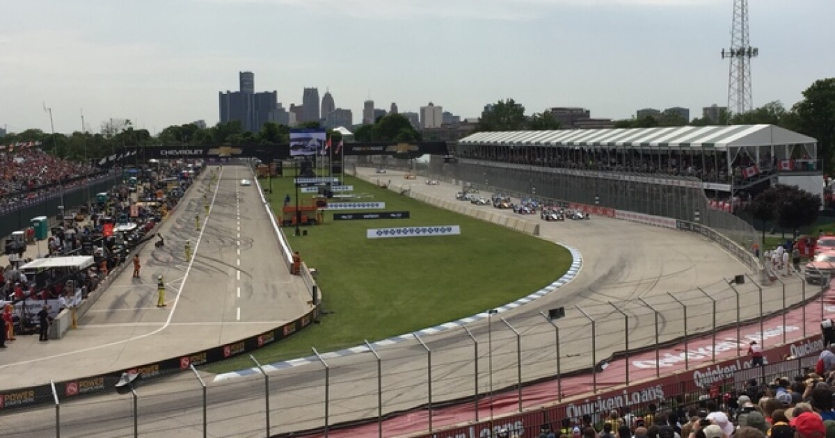 detroit grand prix events to resume after severe weather delay