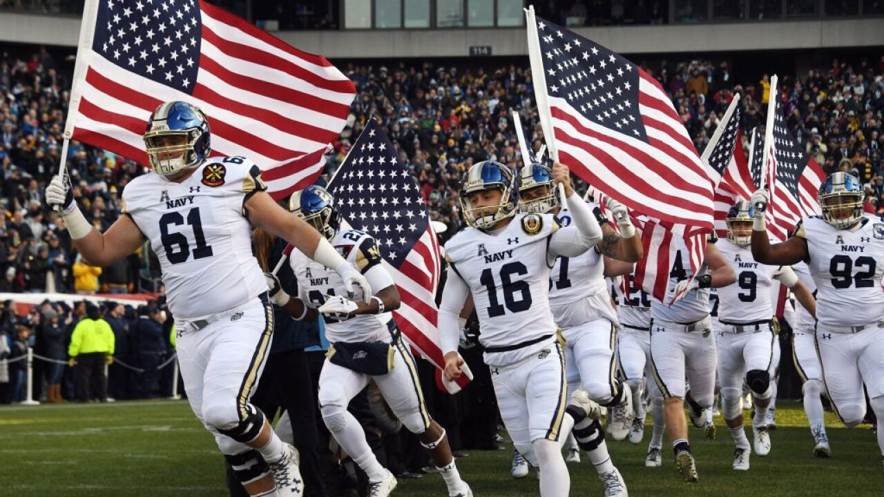 """Load The Clip"" dropped as Navy football's team motto over mass shooting sensitivity concerns"