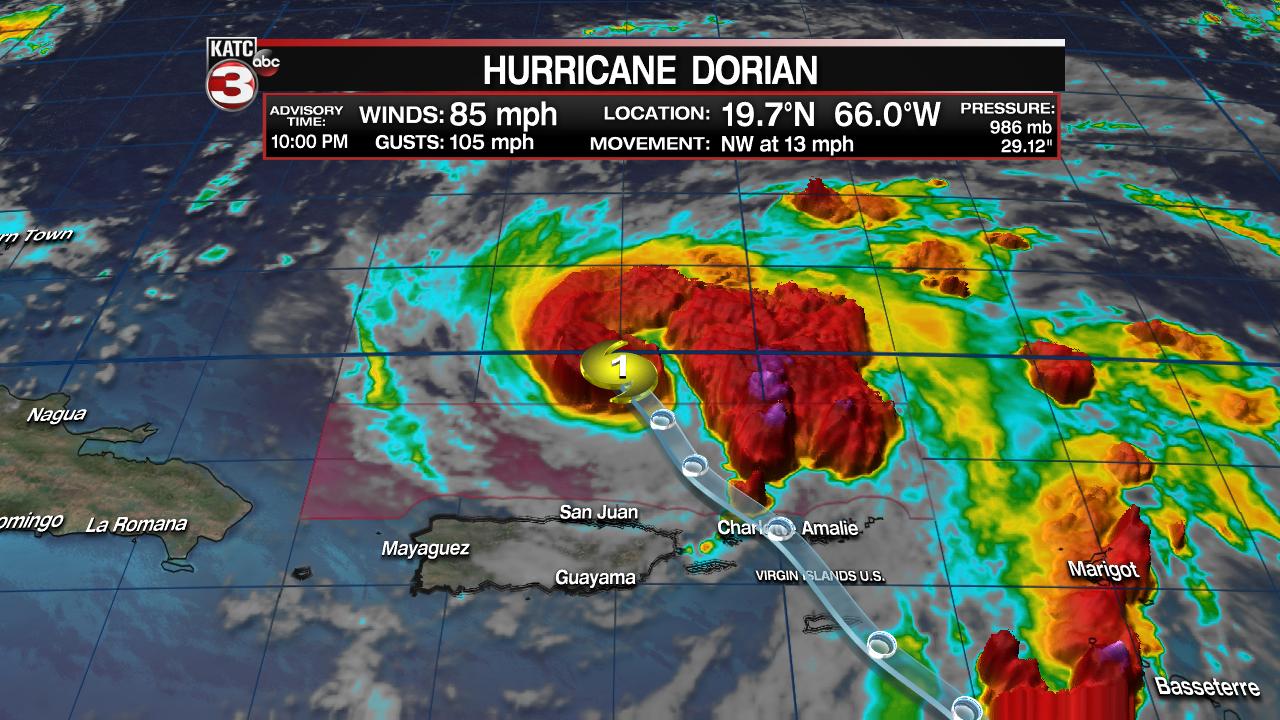 Dorian strengthens, expected to threaten Florida as major storm