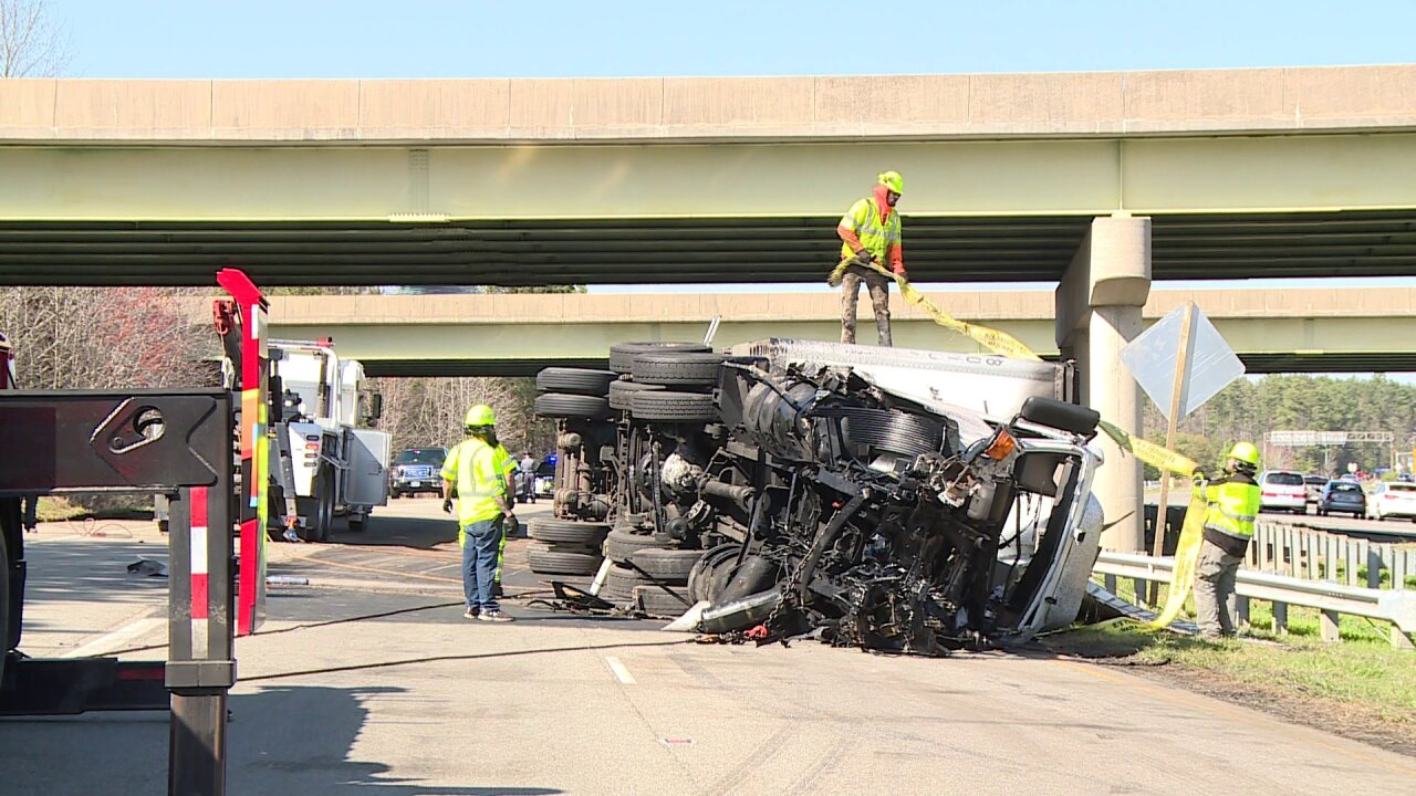 Va. driver killed when semi ran off 288, landed on Route10