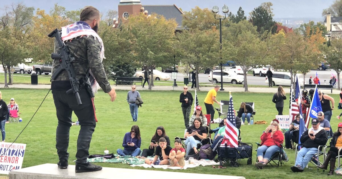 Protest against mask requirements held at Utah Capitol