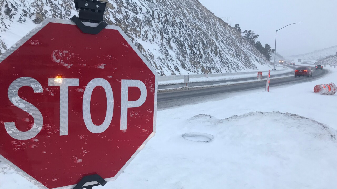 A major winter storm is slamming Southern Nevada and has forced the closures of several roads including Blue Diamond Road also referred to as State Route 160 between Las Vegas and Pahrump.