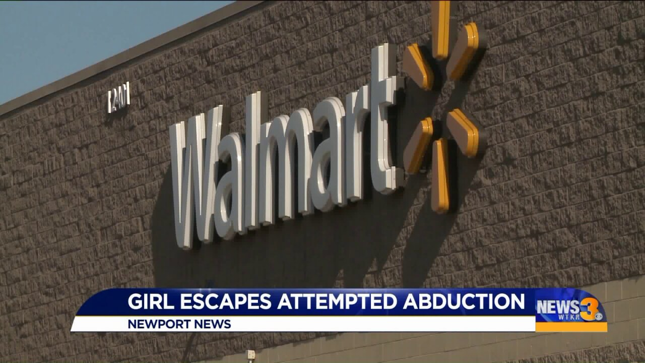Police: Man attempted to abduct 11-year-old girl inside Newport NewsWalmart