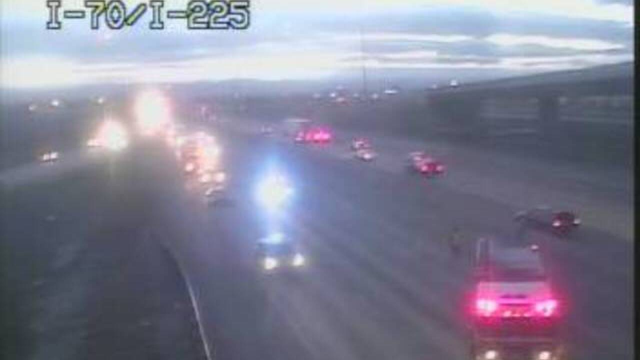 I-70 reopened at I-225 following rollover