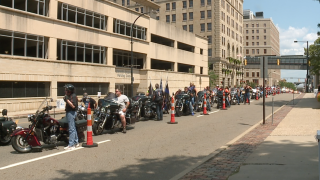 Akron police motorcycle rally