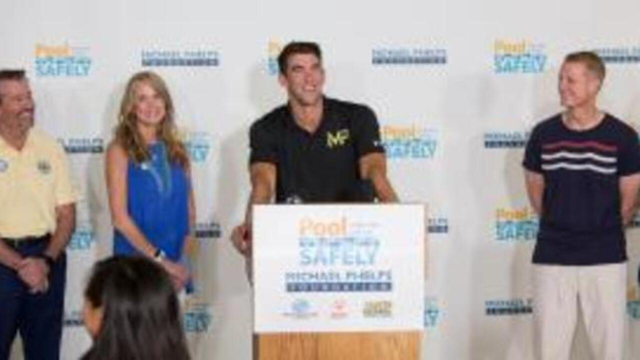 "Michael Phelps Foundation and ""Pool Safely"" partner on drowning prevention"