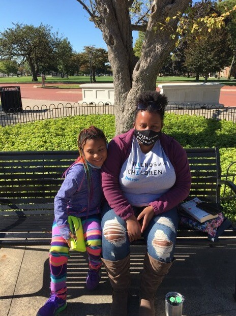 Peighton, 7, is mentored by Autumn Palmer, a Harvard graduate who will stick by the young girl until she graduates high school.