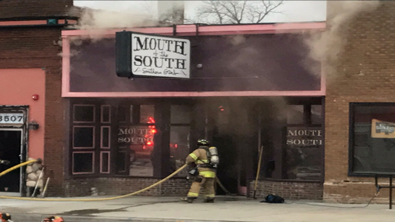 Mouth of the South catches fire Wednesday AM