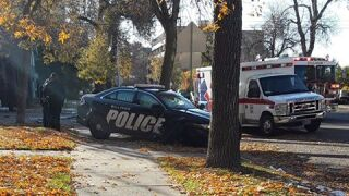 Police car in Billings hit during rush to take a pregnant woman to the hospital