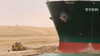 Egypt Suez Canal Ever Given blocking