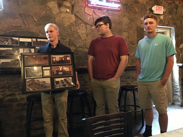 Kings High students share renderings of their designs for the Monkey Bar & Grille in Hamilton Twp.