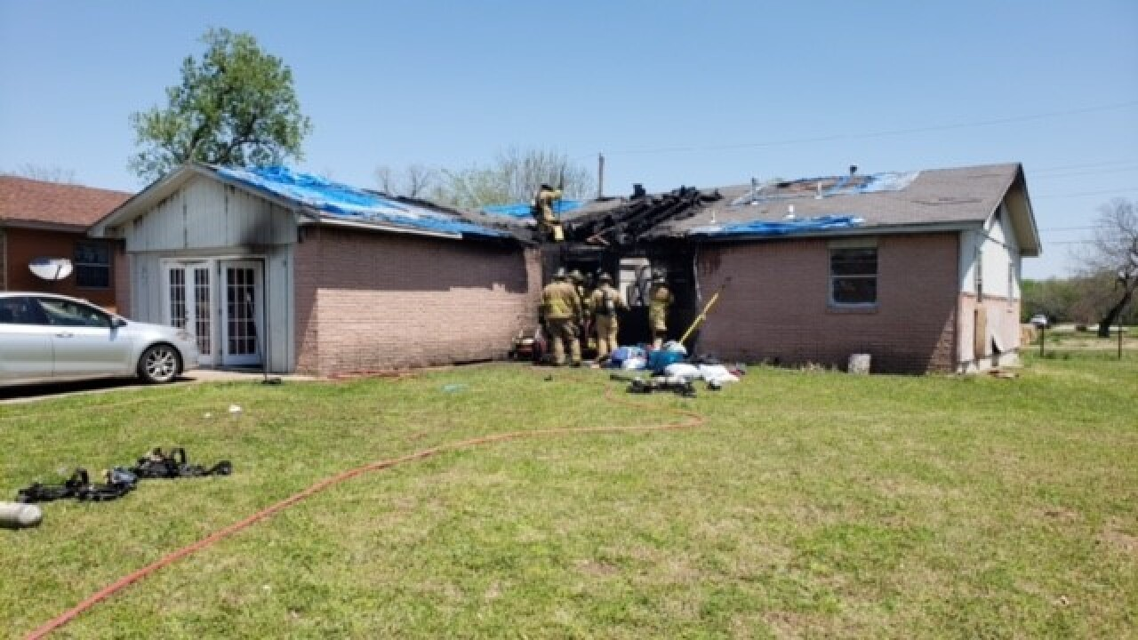 North Tulsa house fire sends one to hospital