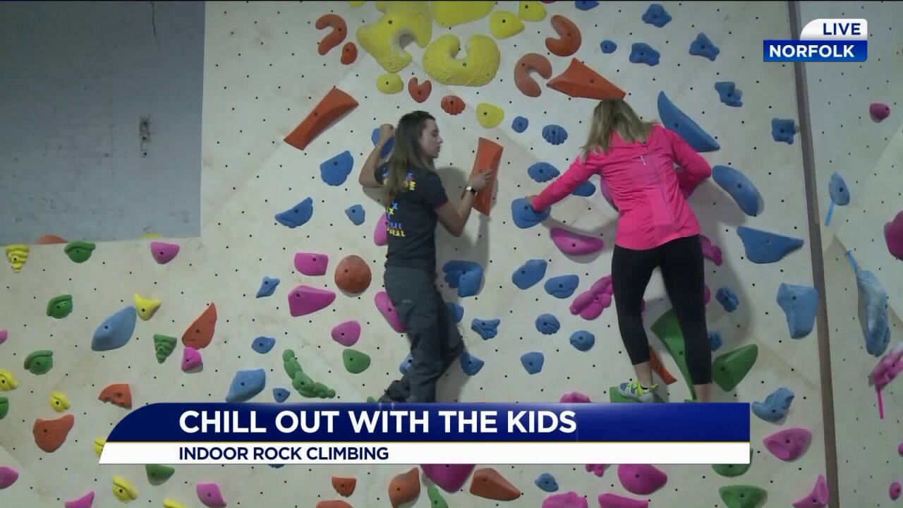 Chill out with the kids at Latitude Climbing andFitness