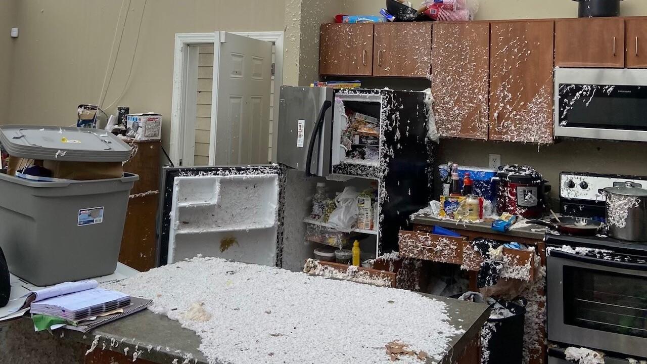 Apartment tornado damage