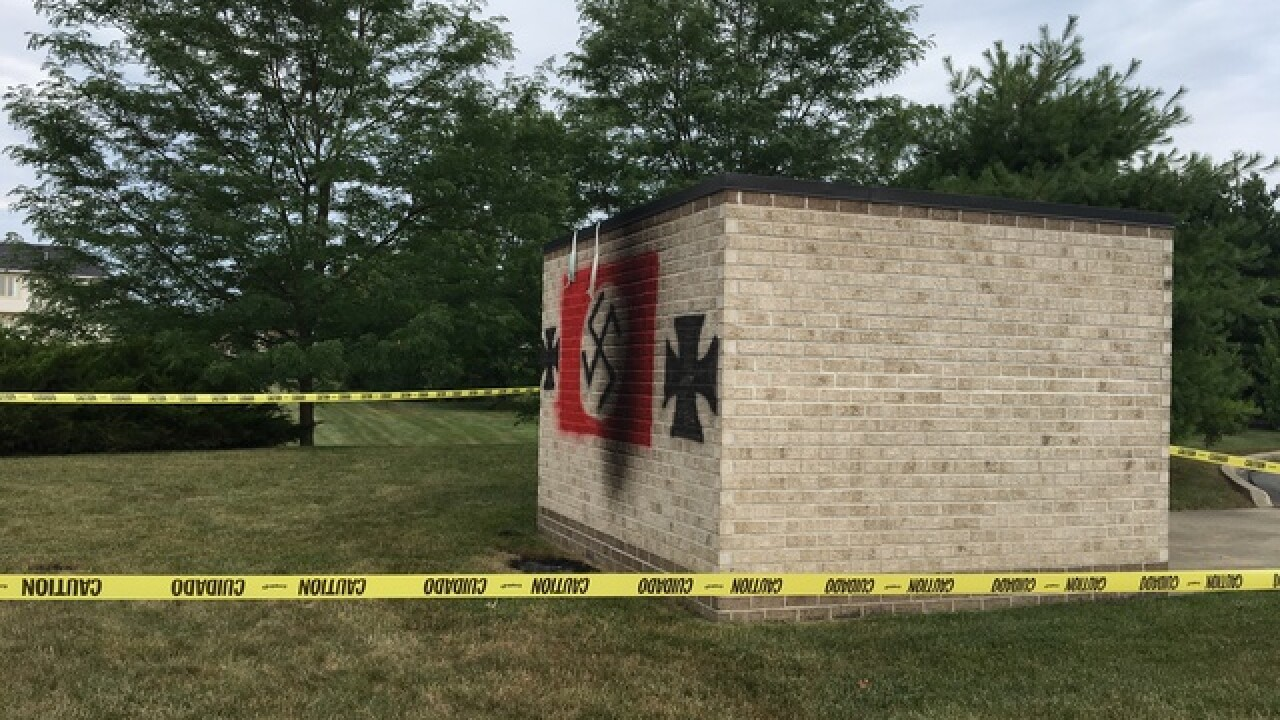 Anti-Semitic graffiti found on Carmel synagogue