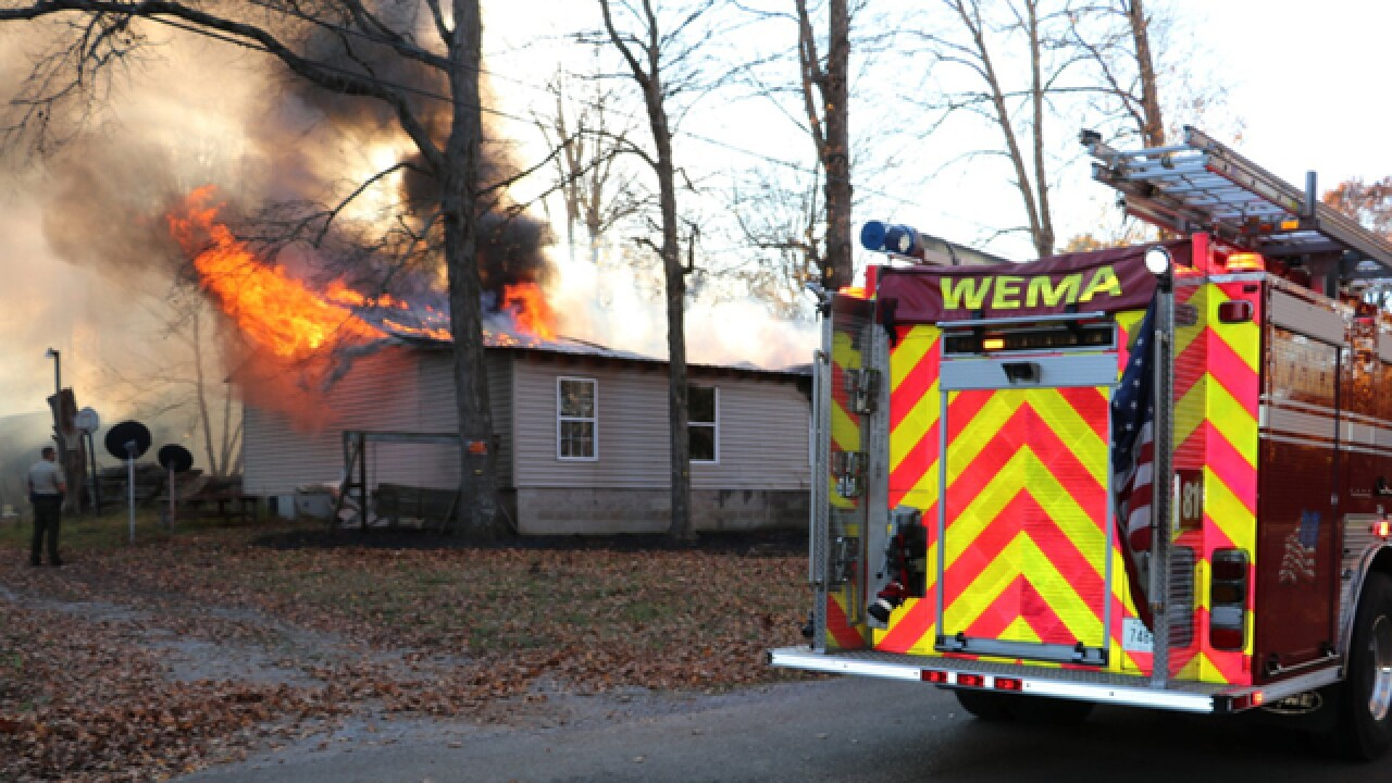 Crews Battle House Fire In Wilson County