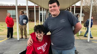 Teen saves for 2 years to buy his friend an electric wheelchair