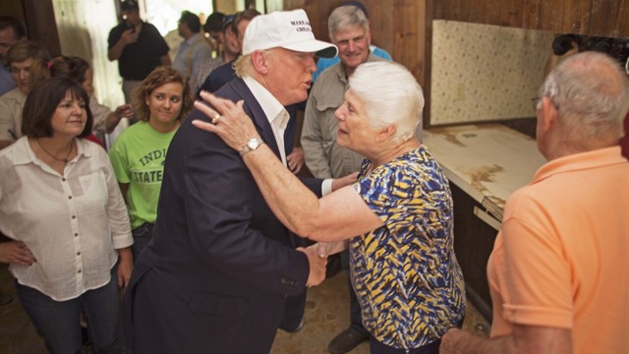 PHOTOS: Trump, Pence visit flooded Louisiana