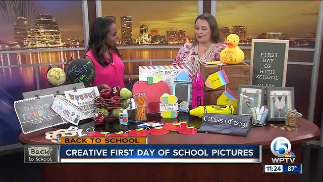Advice for creative first day of school pictures