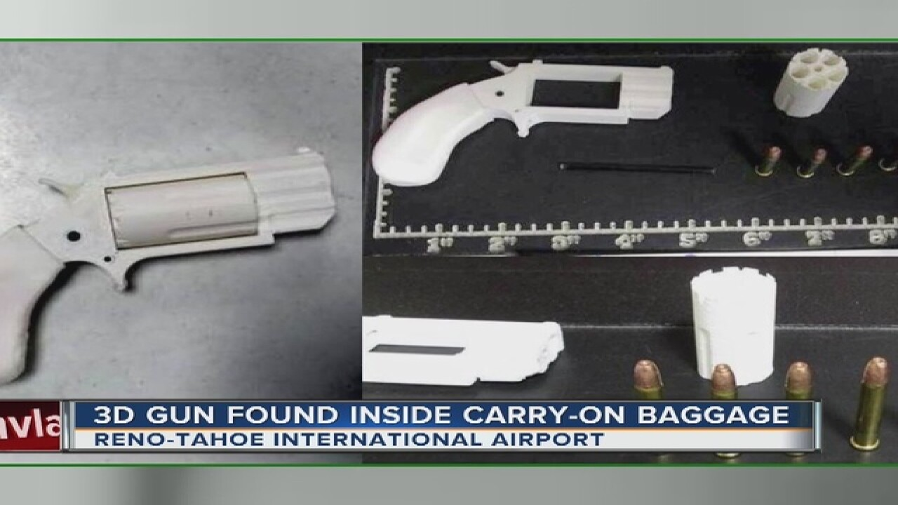 3D-printed gun found inside carry-on baggage at Nevada airport