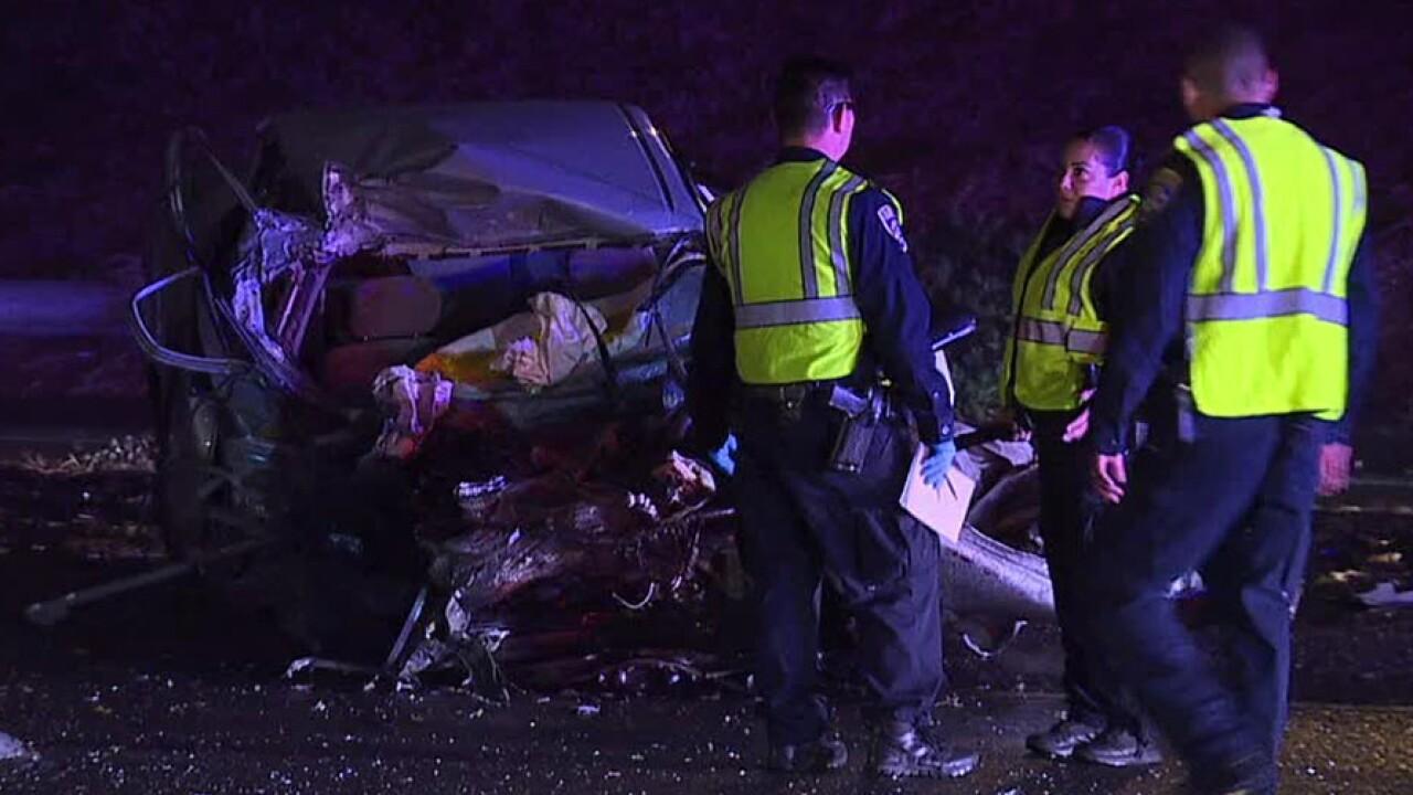 Toyota Corolla fire truck crash Nov. 30, 2018
