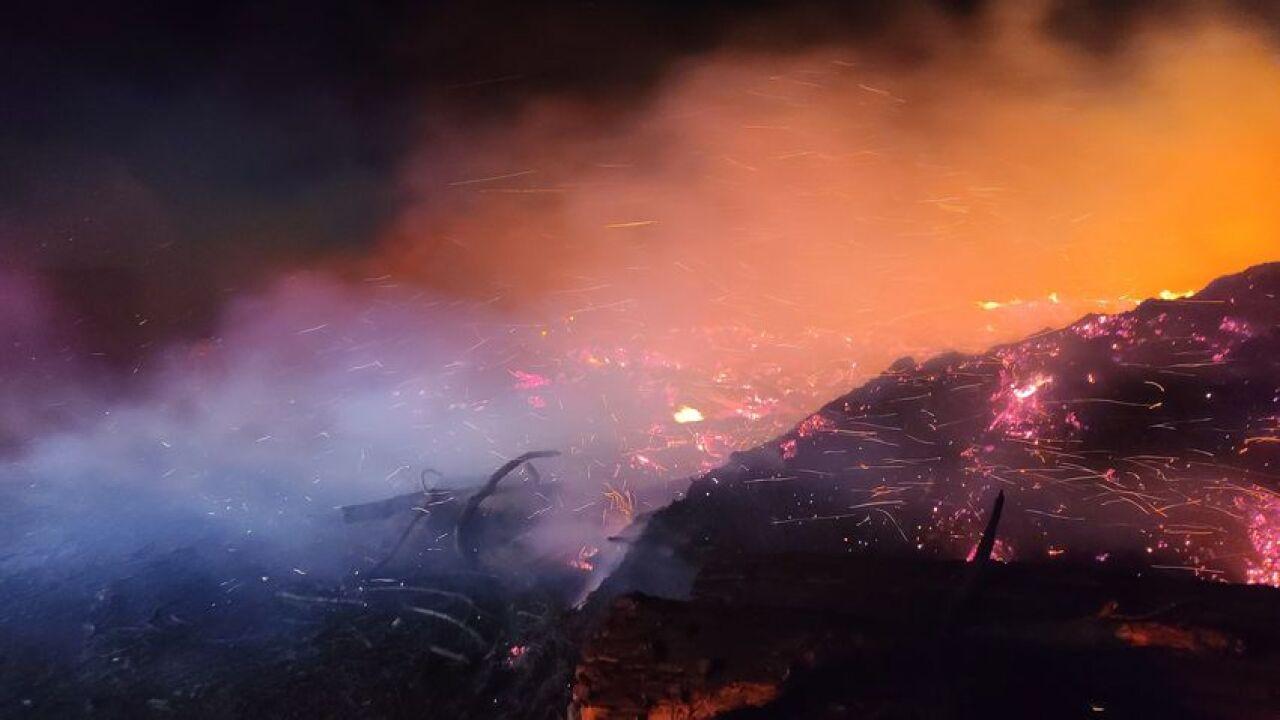 Overnight fire in Black Eagle