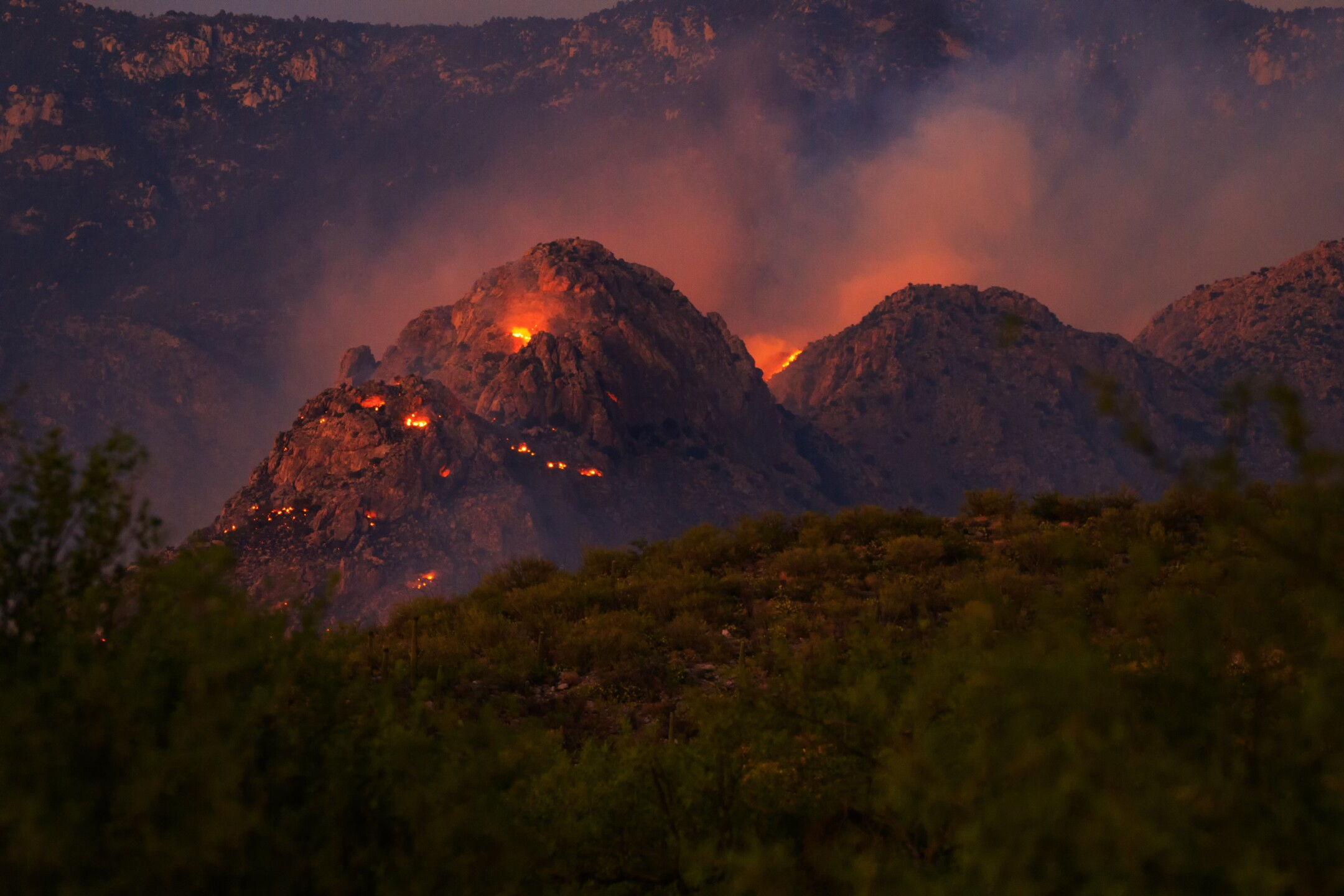 The Bighorn fire in the Catalina Mountains