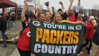 Green Bay Packers fans take on Atlanta