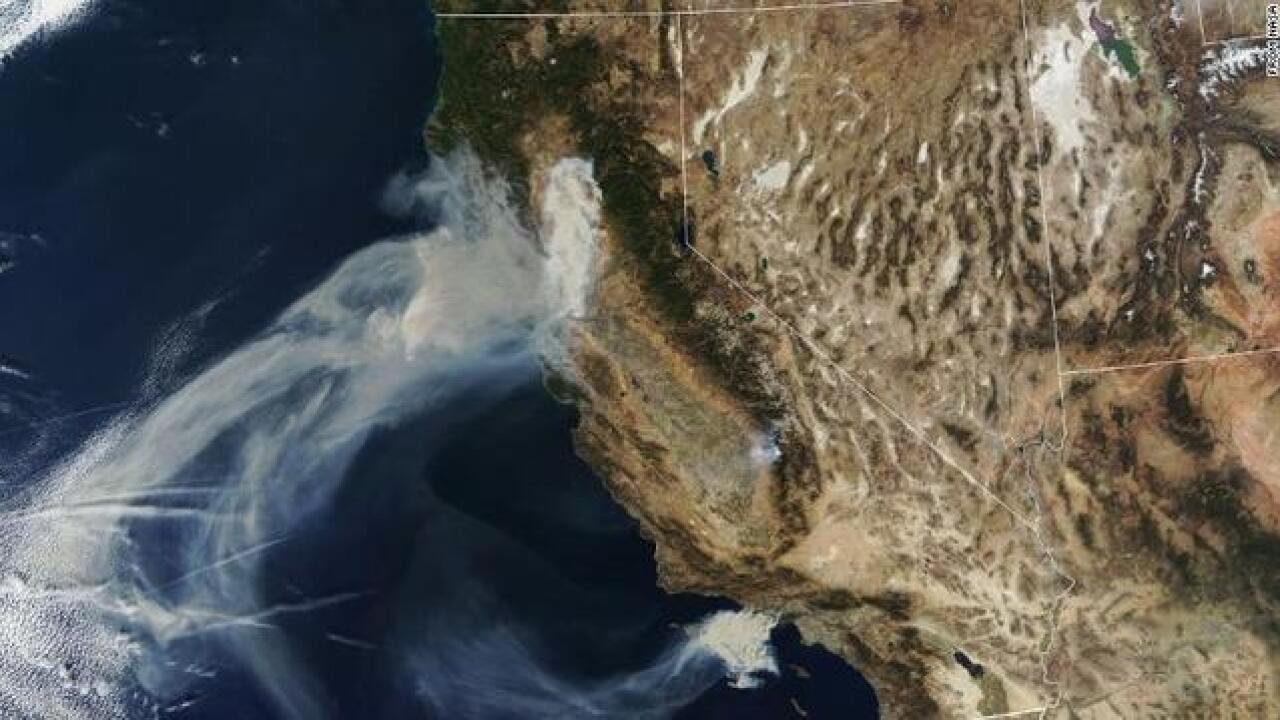 Photos: Here's what California's wildfires look like from space