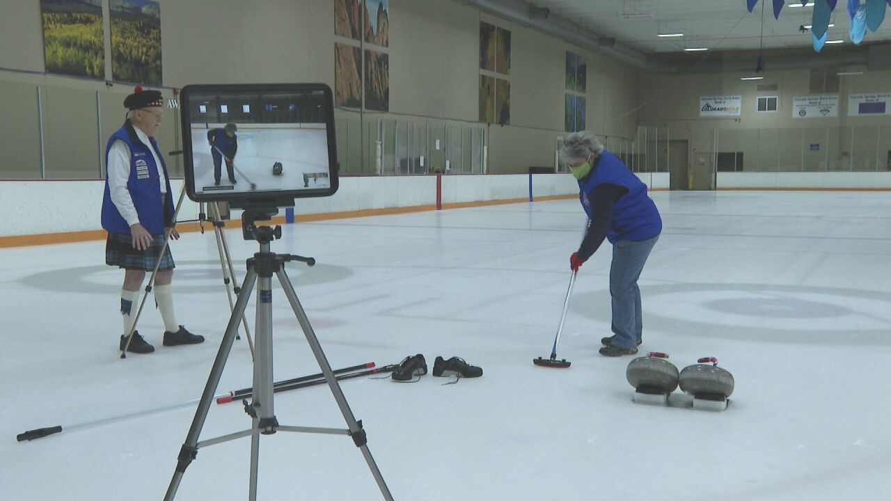 Zoom curling clinic for disabled veterans