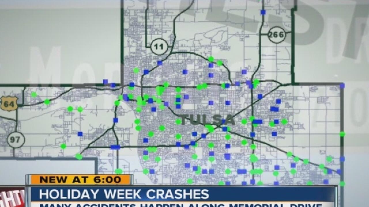 Tulsa area car crashes number more at Thanksgiving than Christmas according to Oklahoma DOT