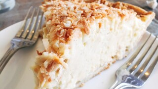 Coconut cream pie is one of the yummy offerings at O Pie O