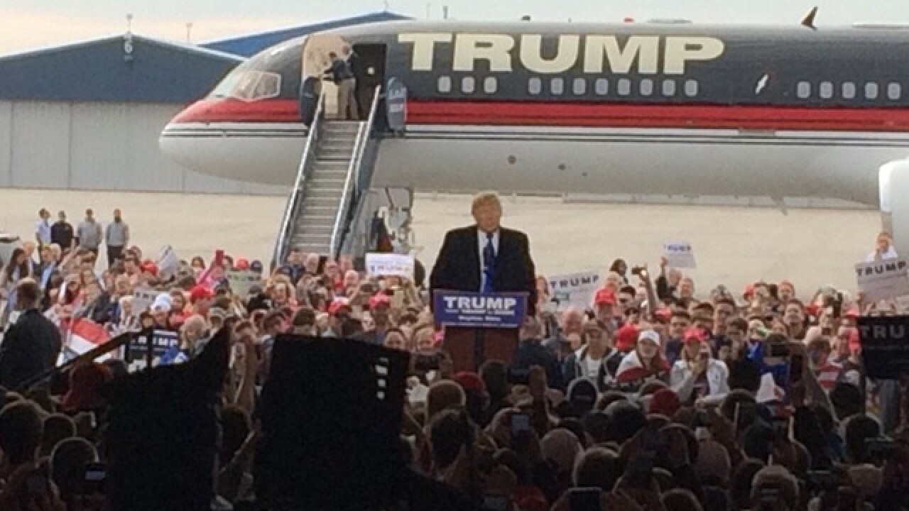 Trump rally draws large numbers in Dayton