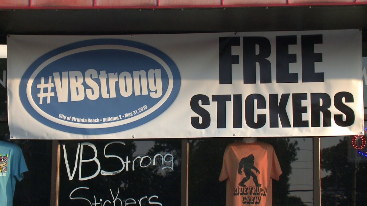 Printing company gives out free #VBStrong stickers and gets overwhelmingresponse