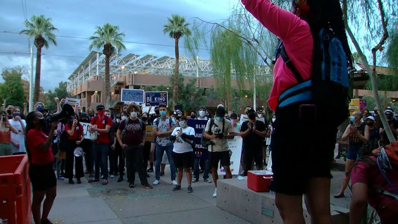 BLM Protest in Tempe, Sunday 8-30-20