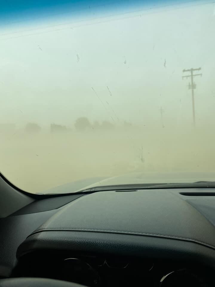Poor Road Visibility (Photo Courtesy of Sarah Watts)