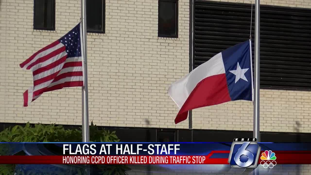 Flags were at half-staff across the city today.