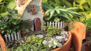 How To Turn A Broken Flower Pot Into A Cute Fairy Planter
