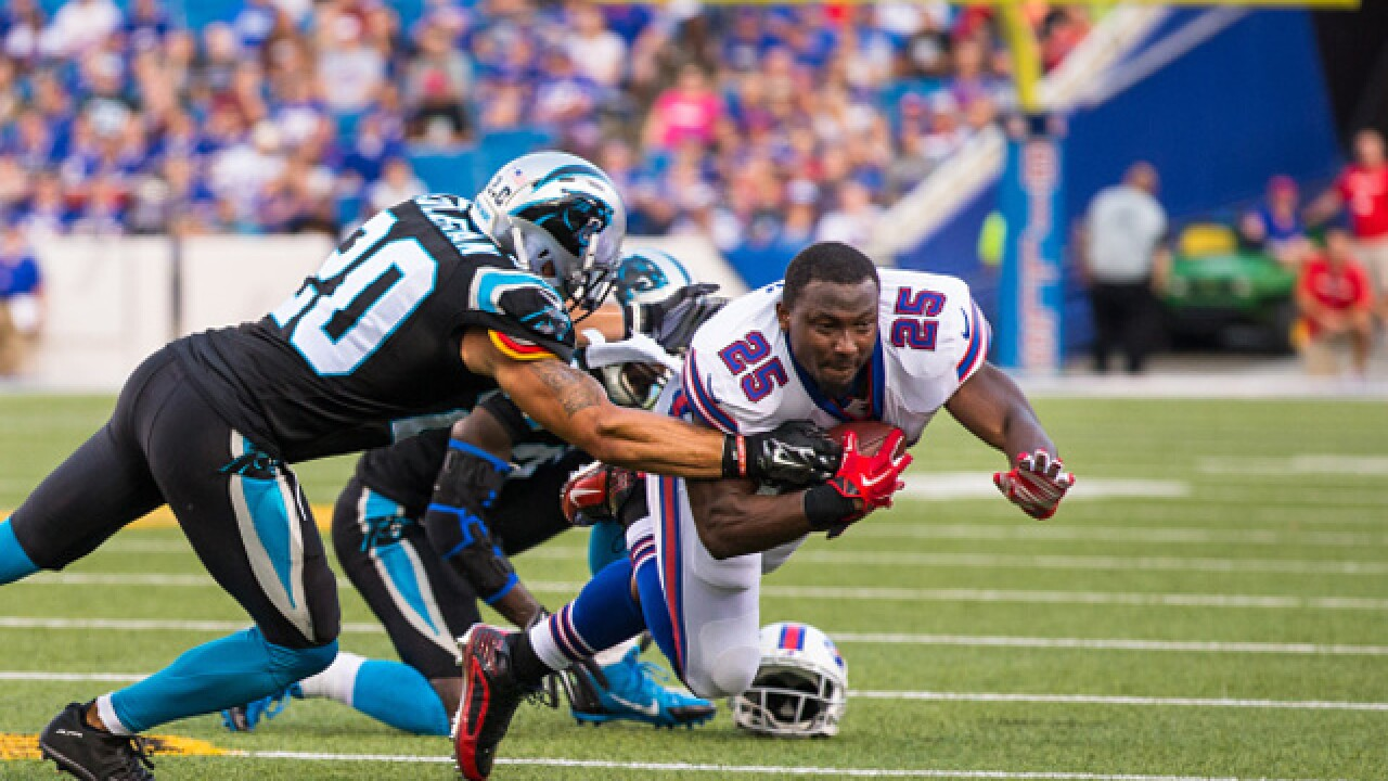 Bills' McCoy leaves practice with sore hamstring