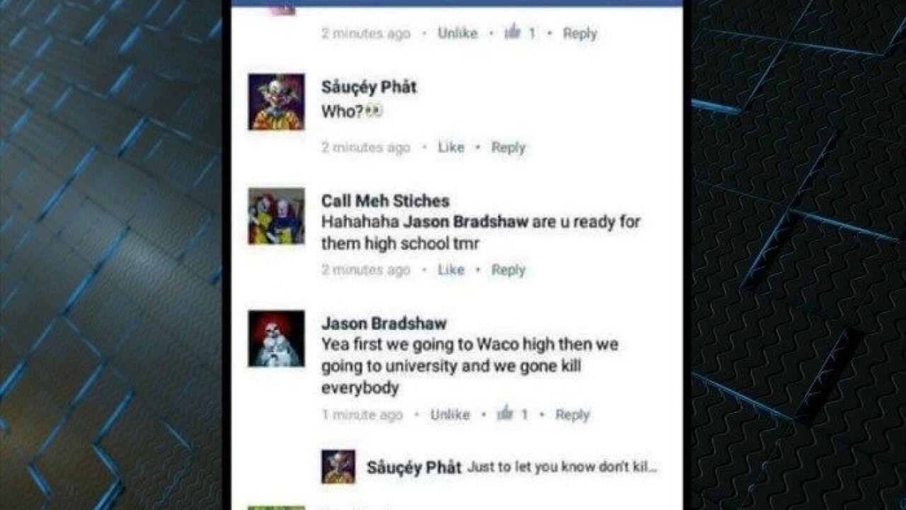 Waco ISD investigates clown social media threat